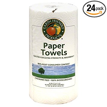 Earth Friendly Products Paper Towels, (Pack of 24)