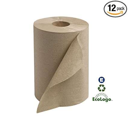 Tork RK350A Universal Medium Single-Ply Hand Roll Towel, Natural