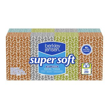 Berkley Jensen Unscented Facial Tissue, 210 ct./8 pk. - White