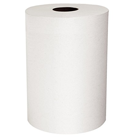 Scott Slimroll Hard Roll Paper Towels (12388) with Fast-Drying Absorbency Pockets, White, 6 Rolls/Case, 580'/Roll