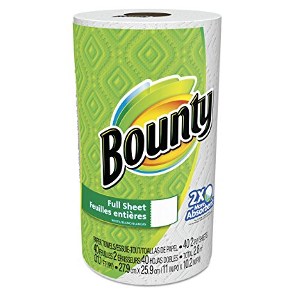 Bounty Paper Towels, White, 15-Count Package (Pack of 2)
