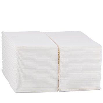 eDayDeal Disposable Cloth-Like Paper Hand Guest Towels - Soft, Absorbent, Air laid Tissue Paper for...