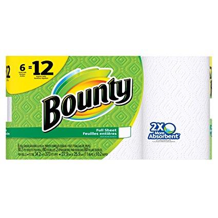 Bounty Paper Towels 6 Double Rolls